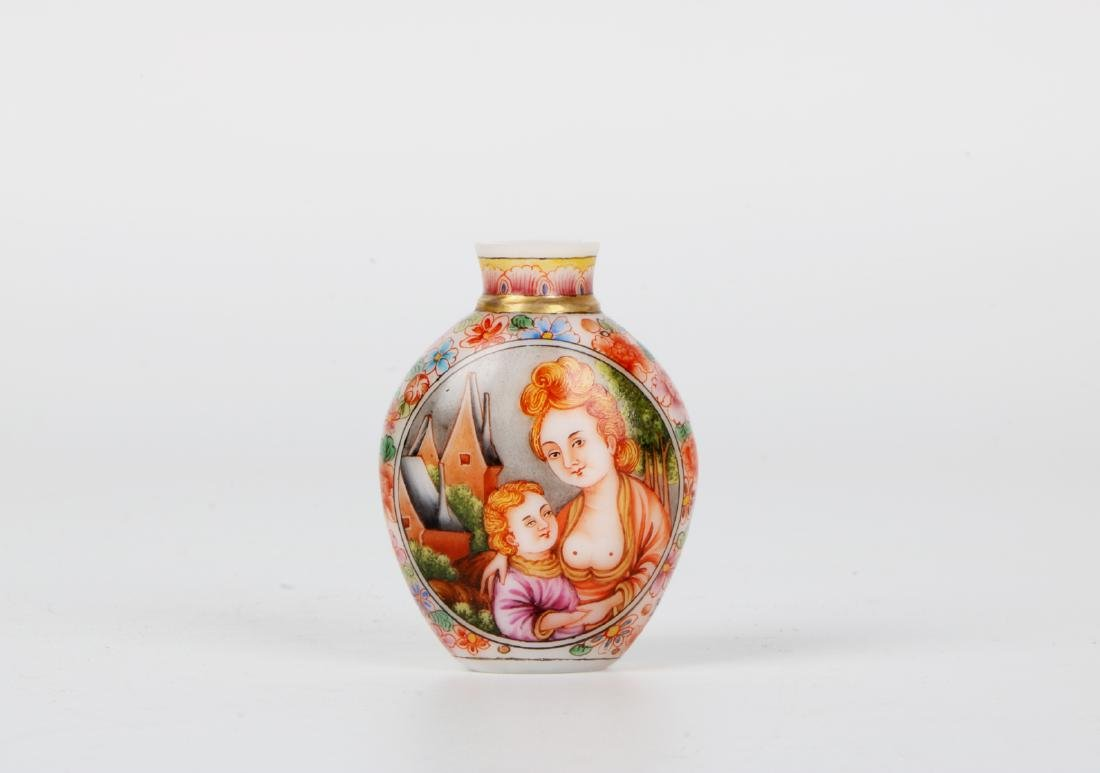 A chinese glass snuff bottle
