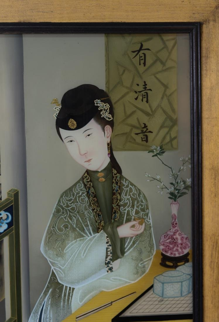 Chinese old painting on glass - 2