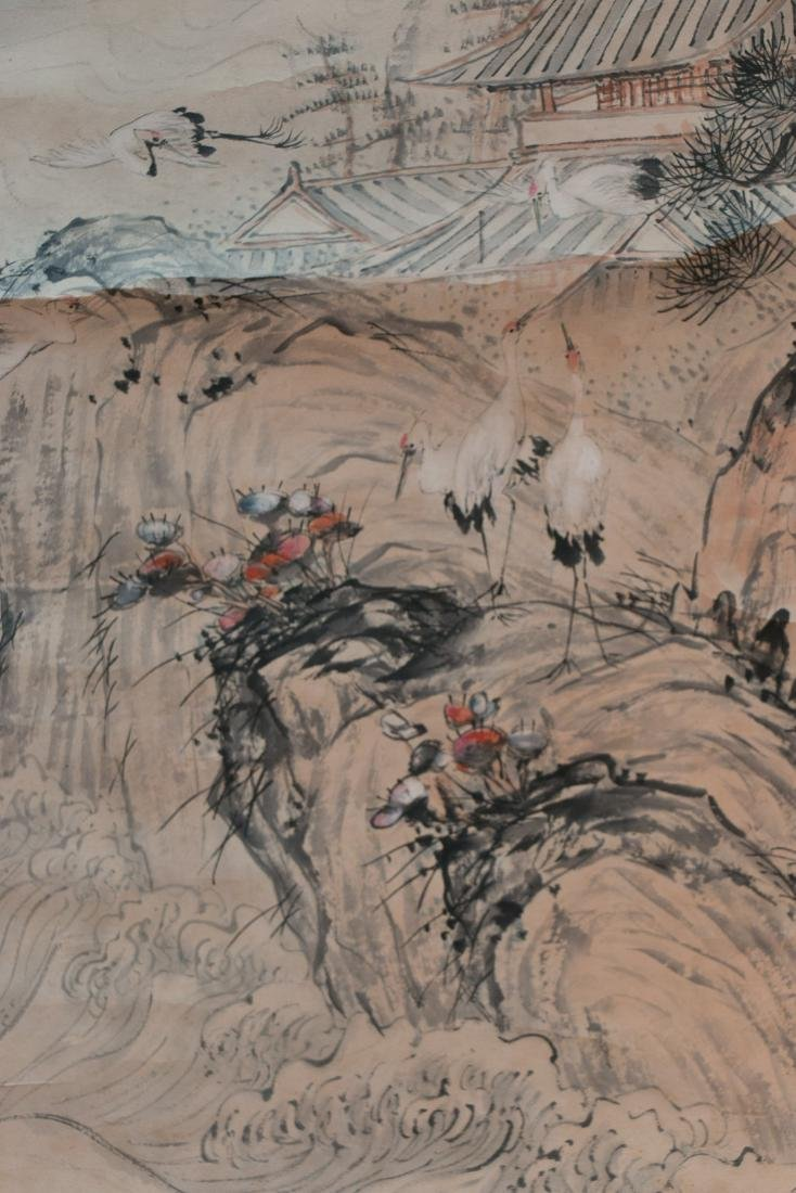 A chinese ink wash painting on paper - 3