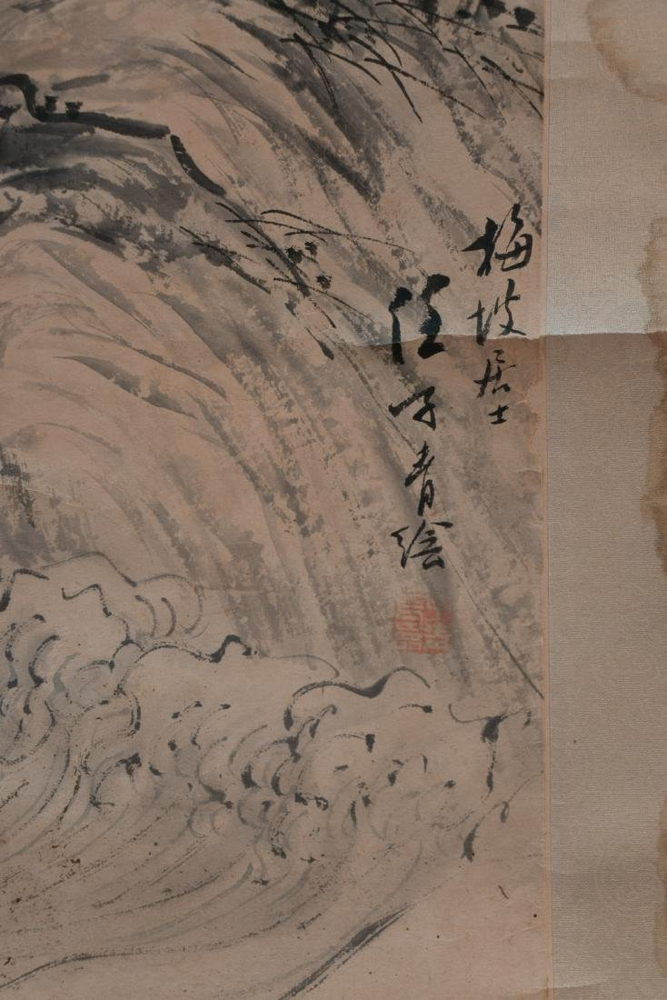 A chinese ink wash painting on paper - 5