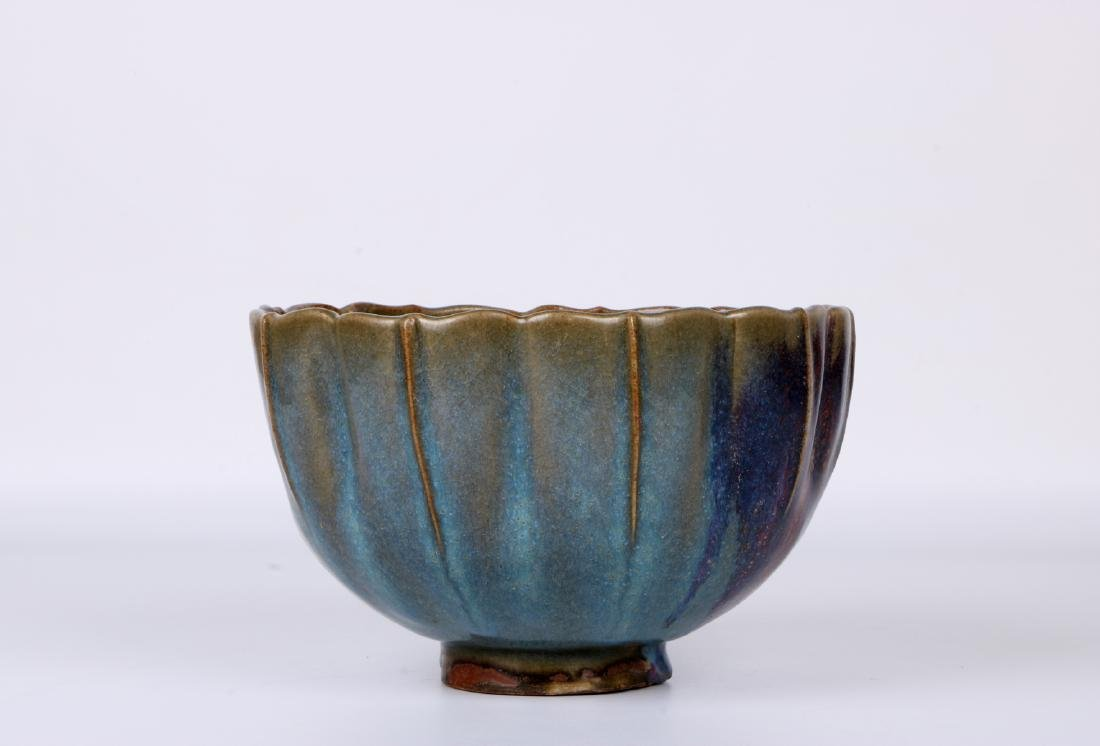 A chinese yuan dynasty Jun ware bowl