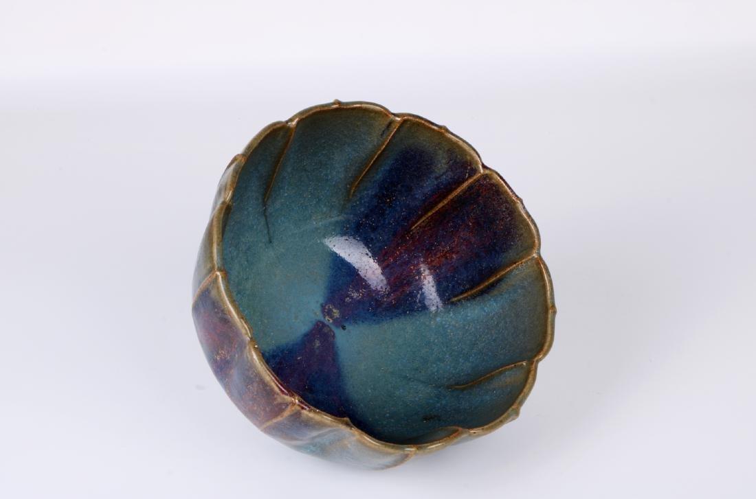 A chinese yuan dynasty Jun ware bowl - 5