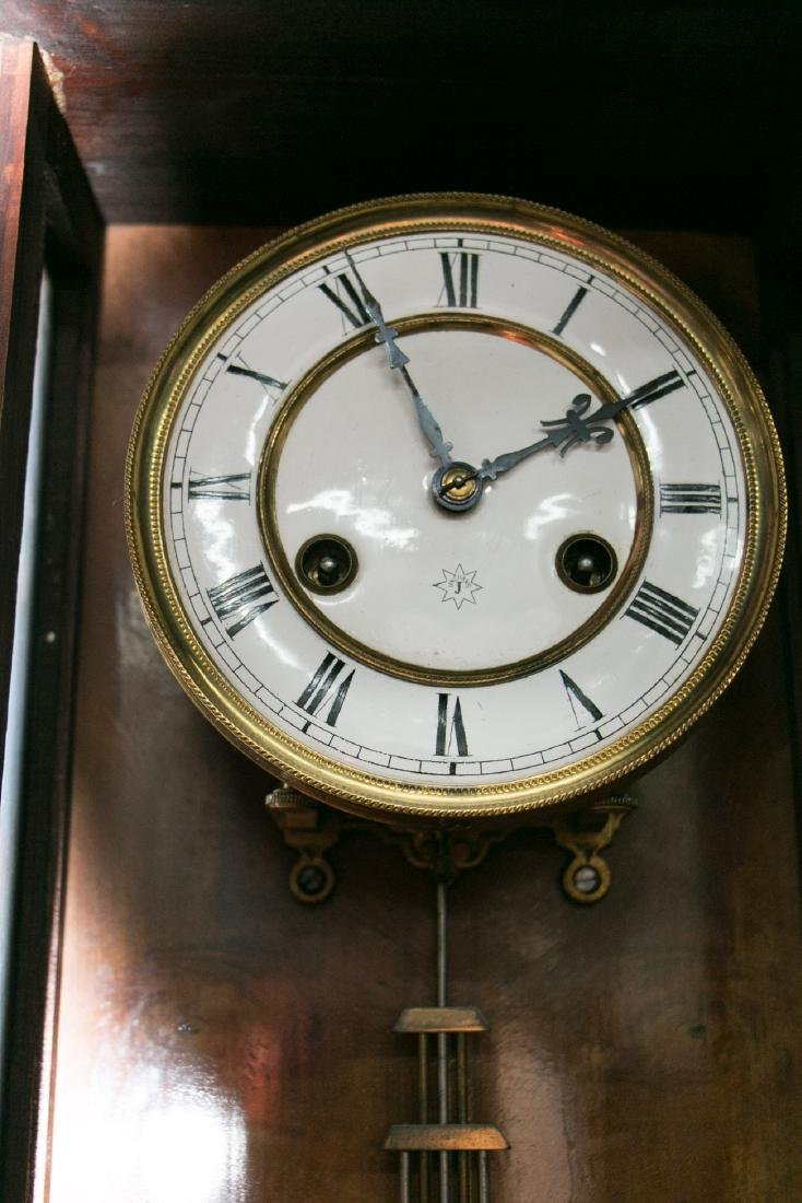 A chinese 19c wall clock - 4