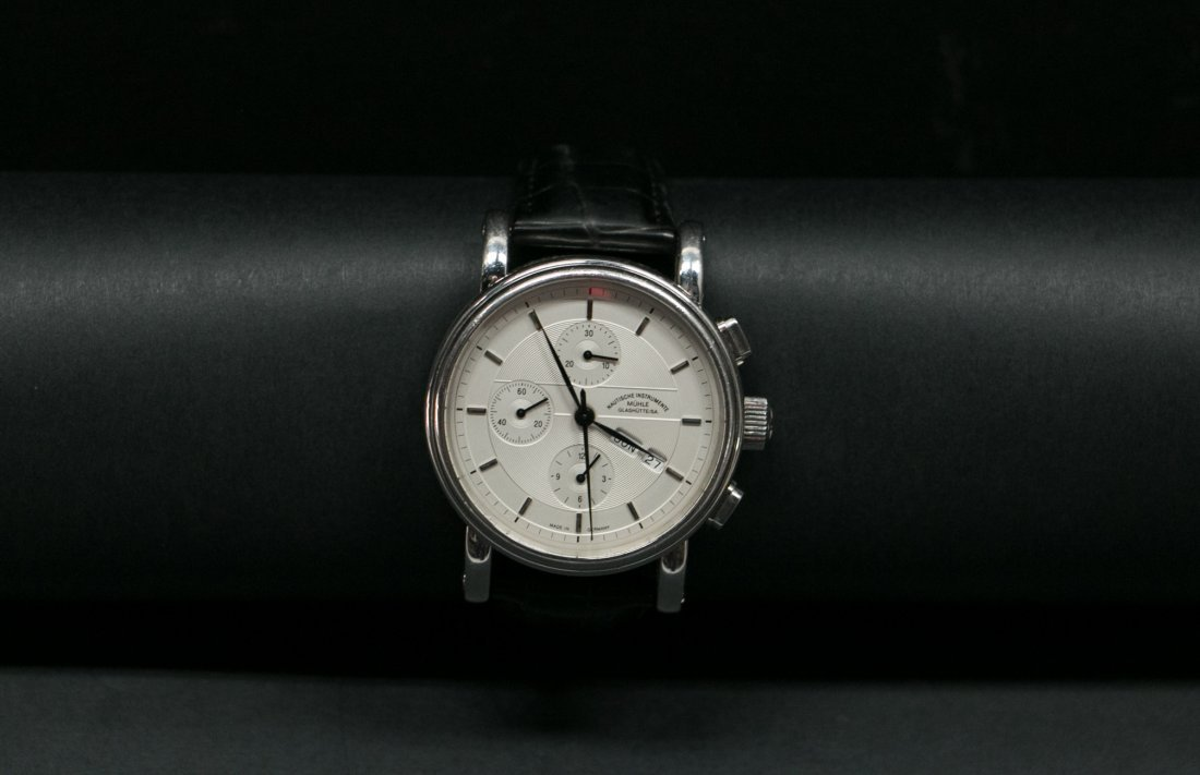 A Muehle-Glashuette multi-function Automatic Steel watc