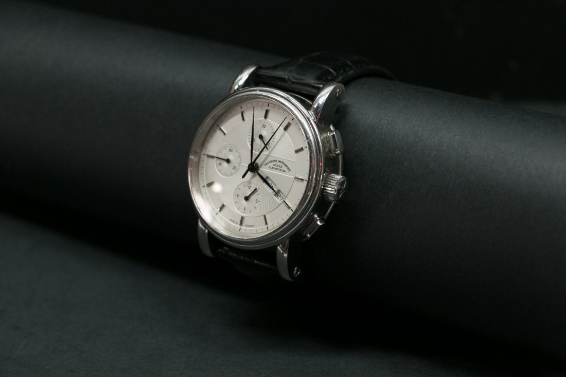 A Muehle-Glashuette multi-function Automatic Steel watc - 3