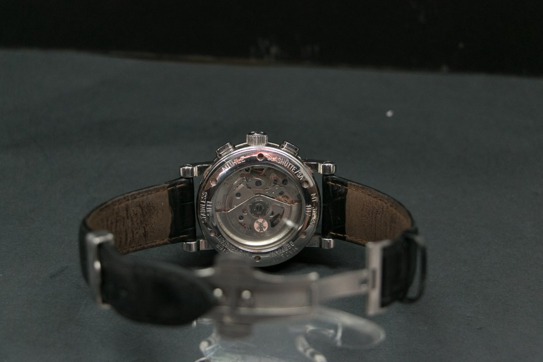 A Muehle-Glashuette multi-function Automatic Steel watc - 5