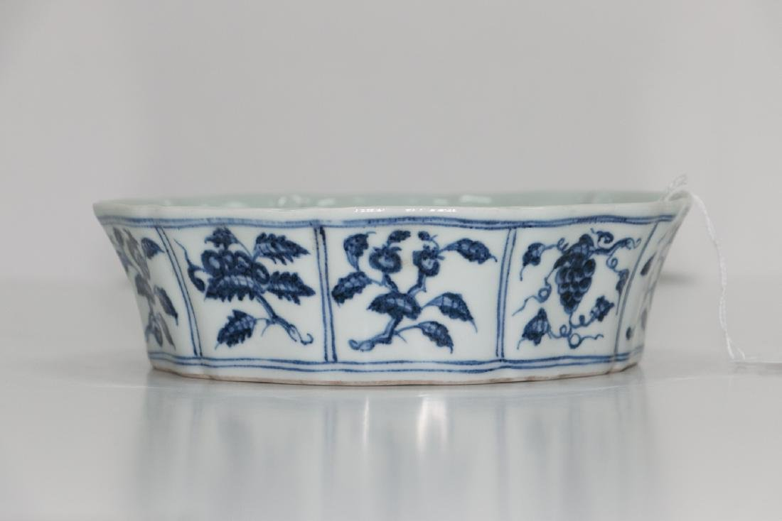 A chinese blue&white plate
