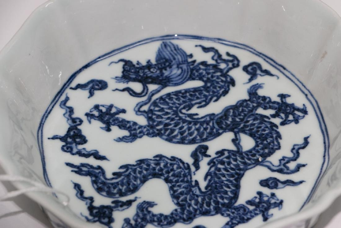 A chinese blue&white plate - 3