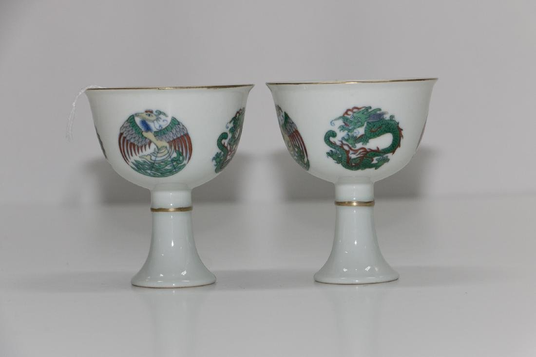 A chinese famille rose cup - 2