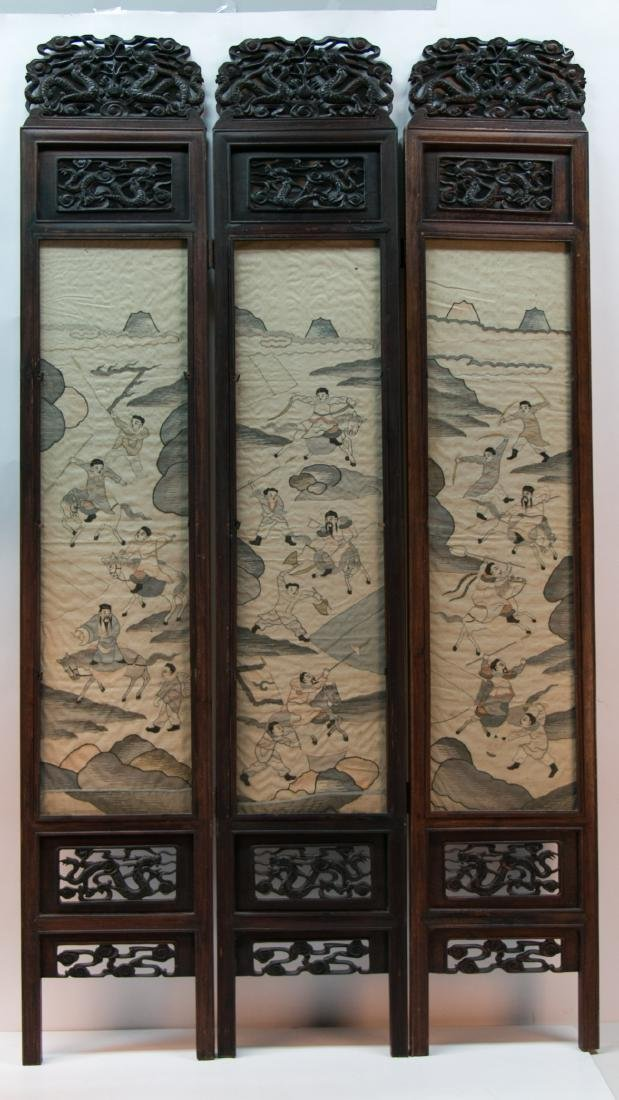 A chinese rosewood screen