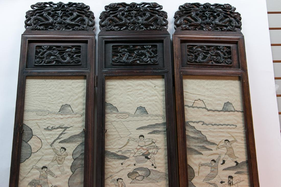 A chinese rosewood screen - 2