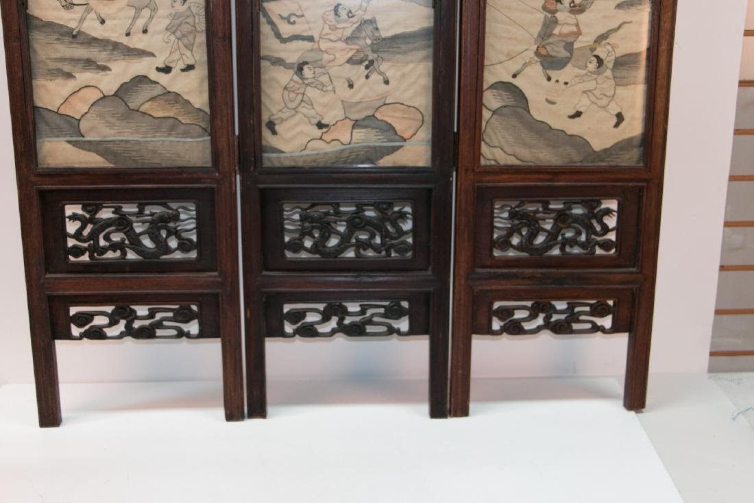 A chinese rosewood screen - 3
