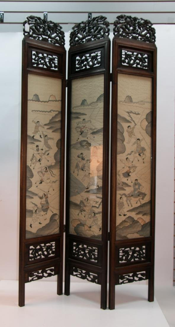 A chinese rosewood screen - 4