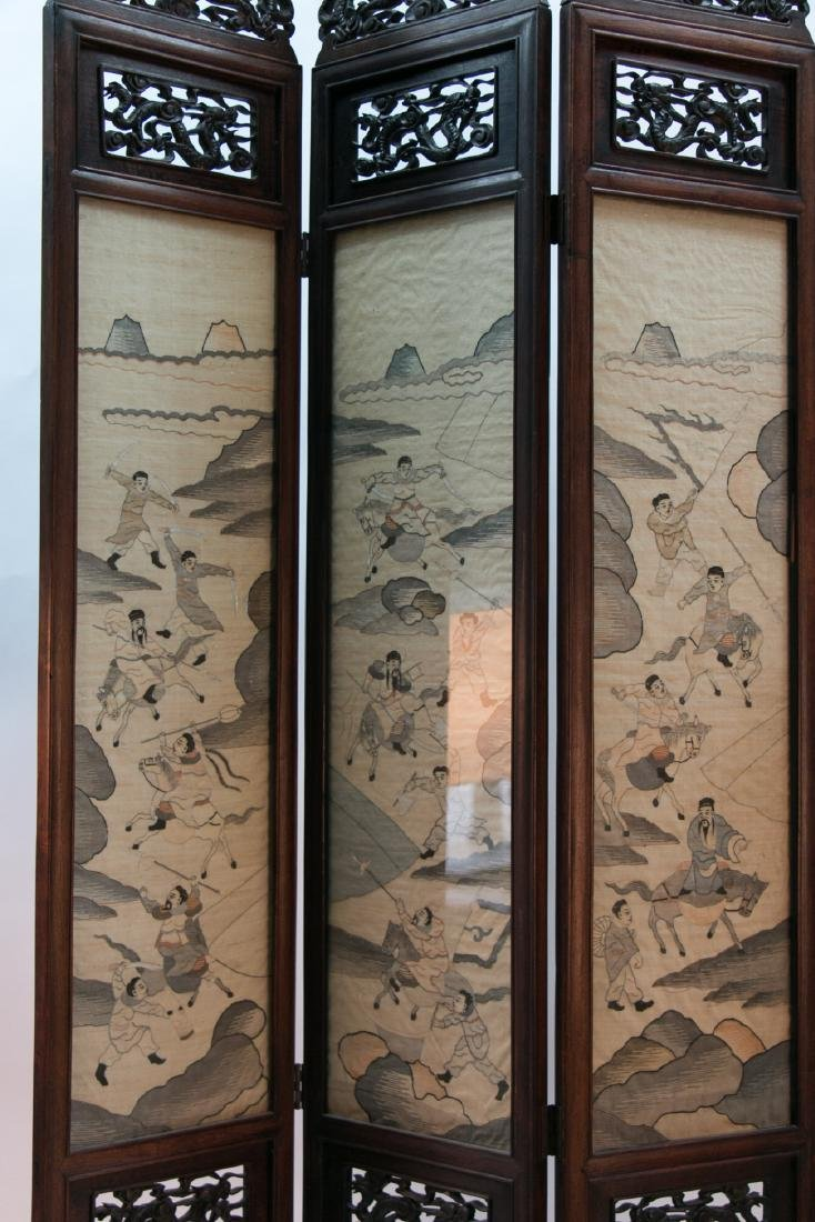 A chinese rosewood screen - 5