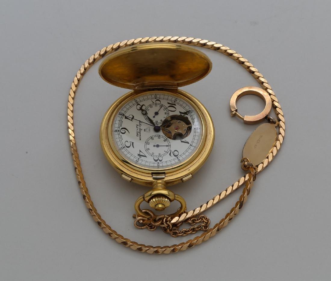 Gold filled Swiss pocket watch withbracelet