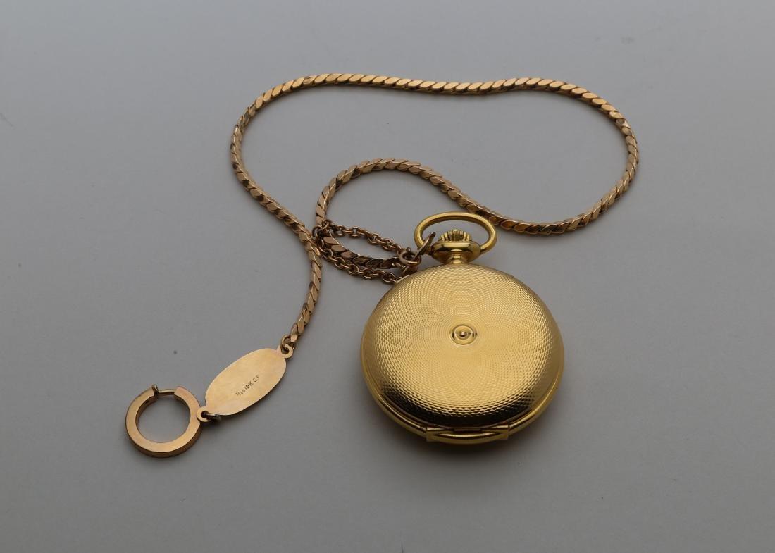 Gold filled Swiss pocket watch withbracelet - 2