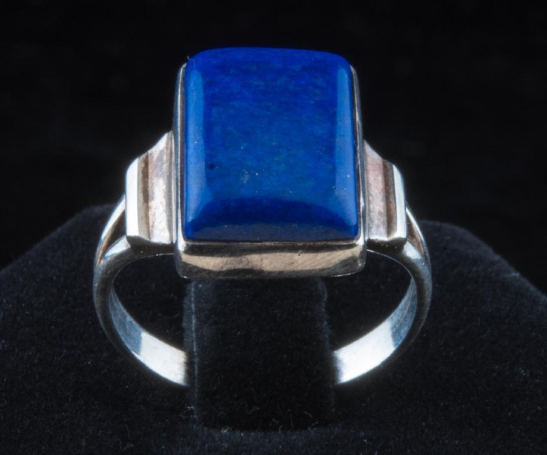 Vintage lapis sterling silver ring