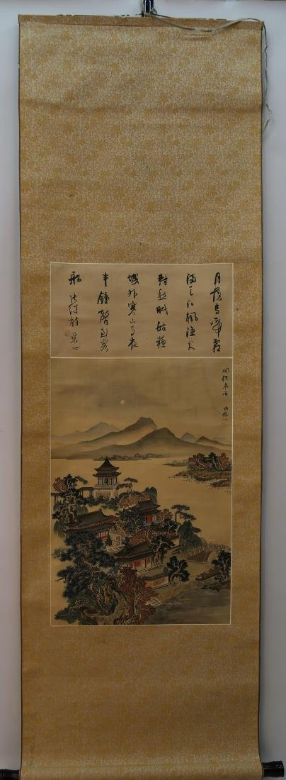 A scroll of painting on silk