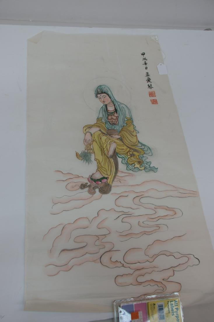 A chinese painting on silke