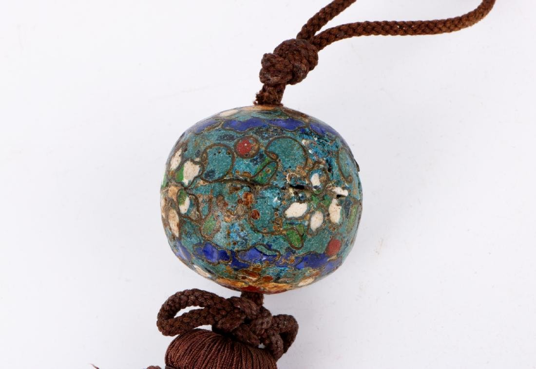 A pair of chinese cloisonne pendant - 5