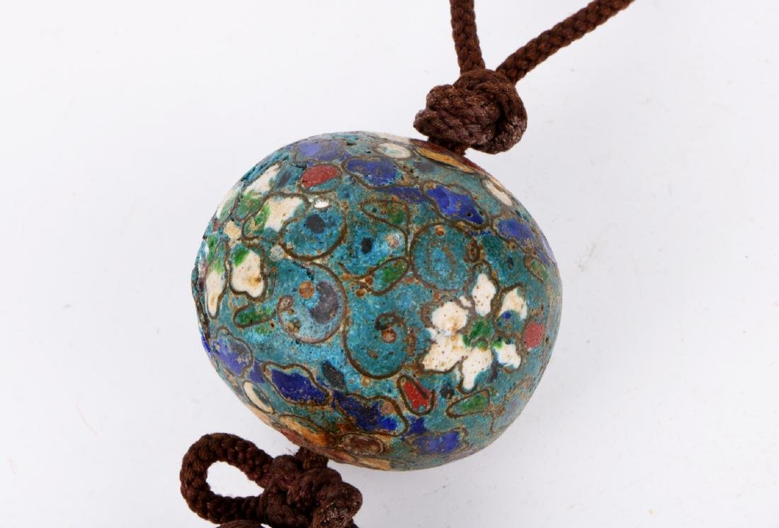 A pair of chinese cloisonne pendant - 8