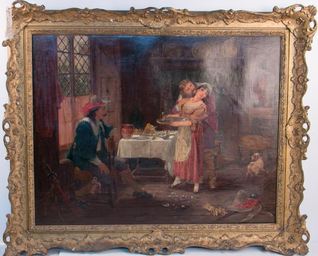 A english oil painting on canvas