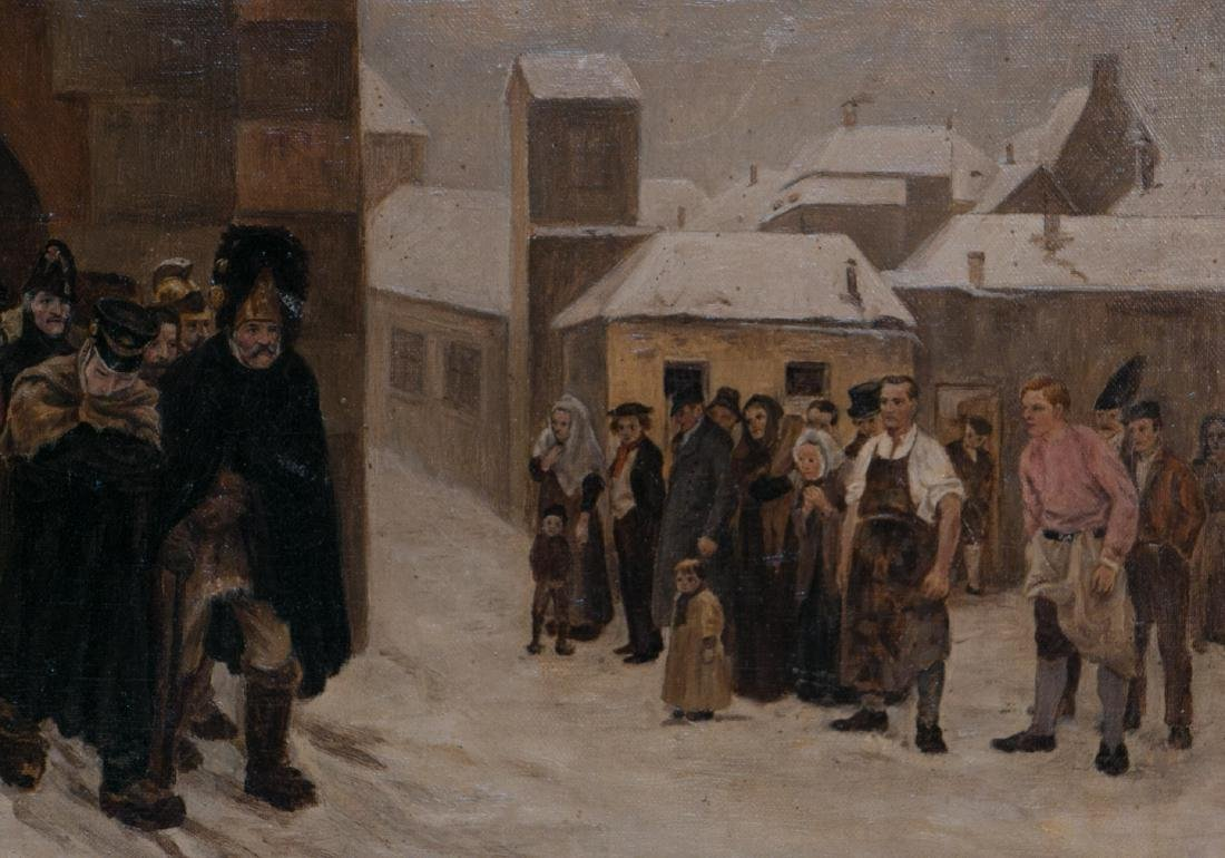 A russian oil painting on canvas - 3