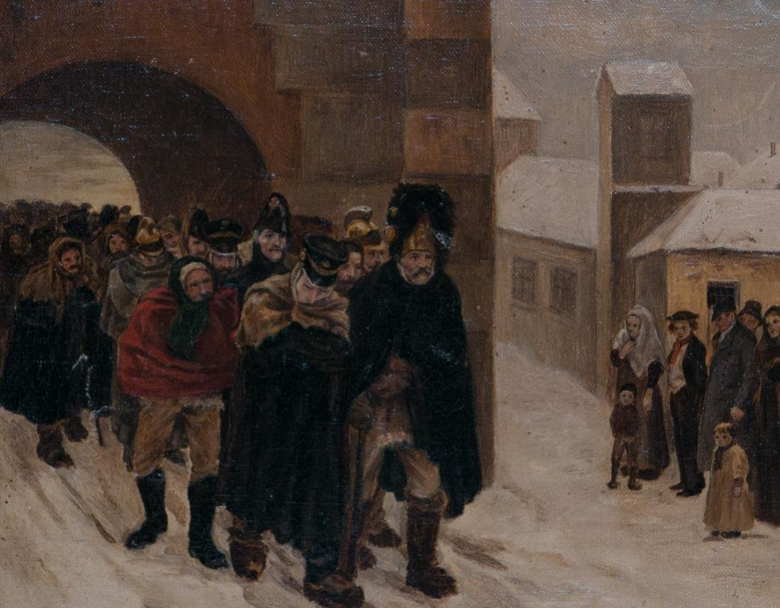 A russian oil painting on canvas - 4