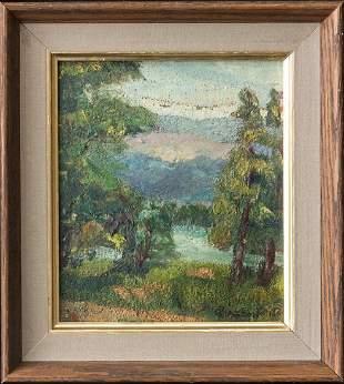 Forest Scene Original Oil By California Artist Gottardo
