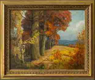 Texas Autumn Original Oil By Texas Listed Artist