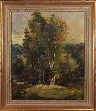 Tree Landscape with Figures