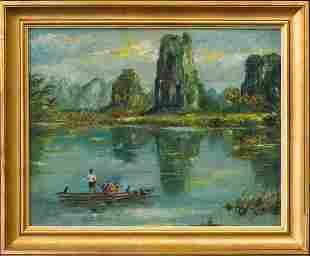 Liu Kang (1911 - 2005) China, Singapore Artist Oil