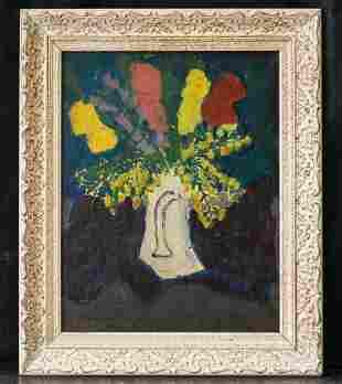 New York Listed Artist Sally Michel 1902-2003 Oil