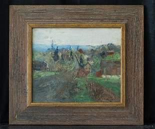 Pennsylvania Listed Artist Walter Baum 1884-1956 Oil