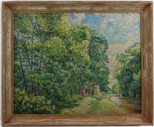 John Wells James (1873-1951) - SUMMER LANDSCAPE