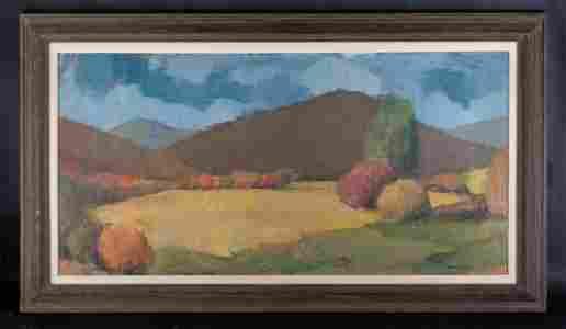 Vintage  American Impressionist Oil Painting