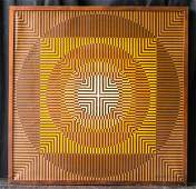 Victor Vasarely (1906 - 1997) Oil On Canvas
