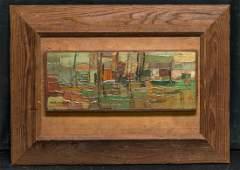 Hale Aspacio Woodruff (1900 - 1980) Abstract Oil