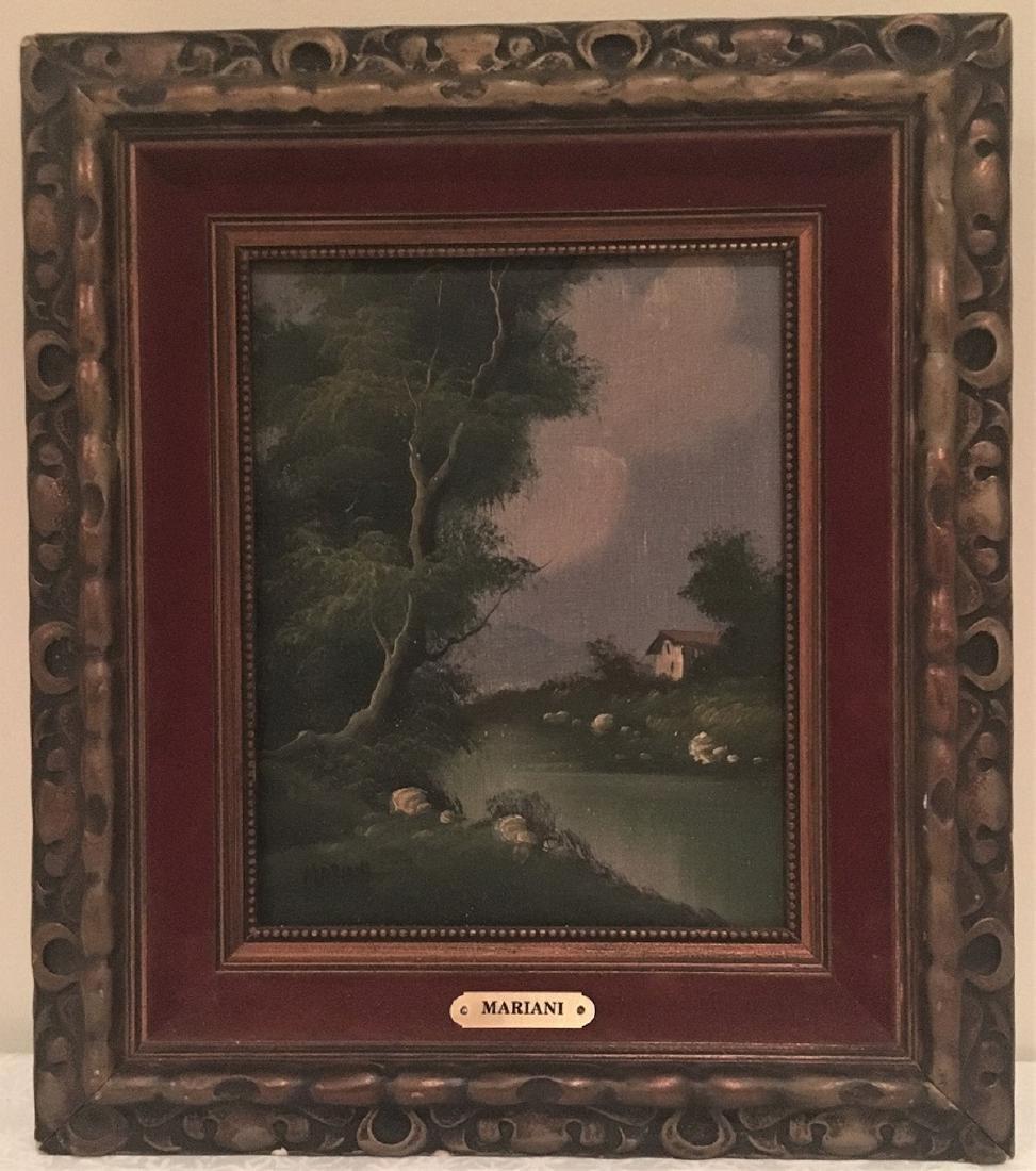 Oil Landscape Painting on Canvas Italian Artist Mariani