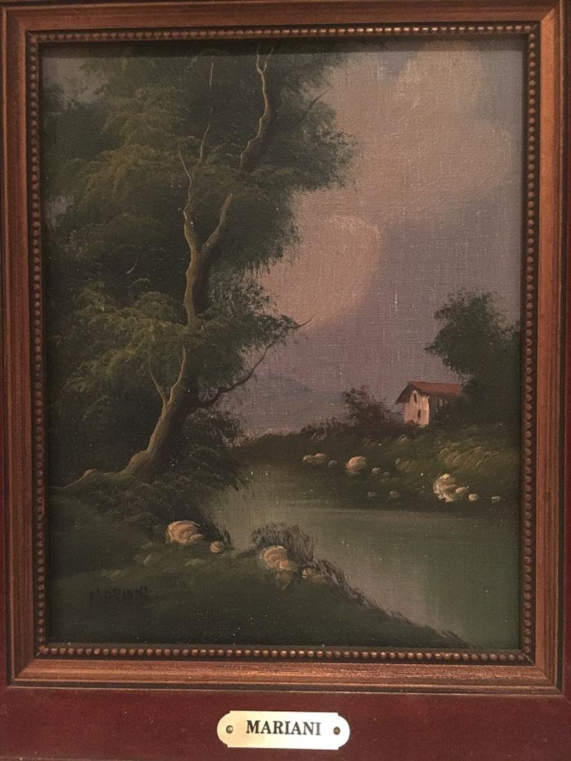 Oil Landscape Painting on Canvas Italian Artist Mariani - 2