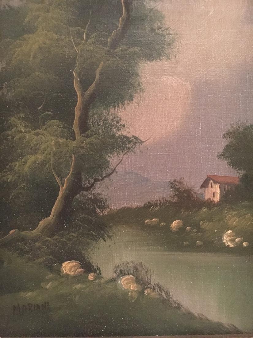Oil Landscape Painting on Canvas Italian Artist Mariani - 3