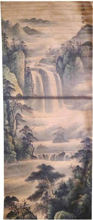 Wen Zhengming 《Landscape Ink Painting of Ming