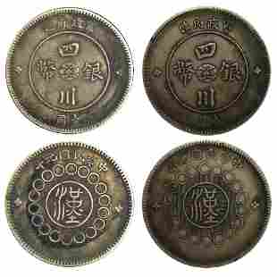 A Group of Silver Coins Made by the Military Government