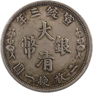 Da Qing Silver coin fifty cents