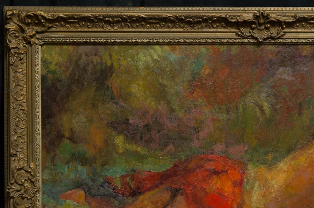 "LiuKang(1911-2005)Singapore Artist Oil""Balinese Lady"" - 3"