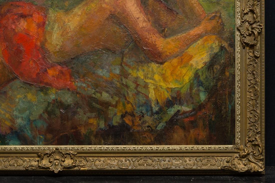 "LiuKang(1911-2005)Singapore Artist Oil""Balinese Lady"" - 4"
