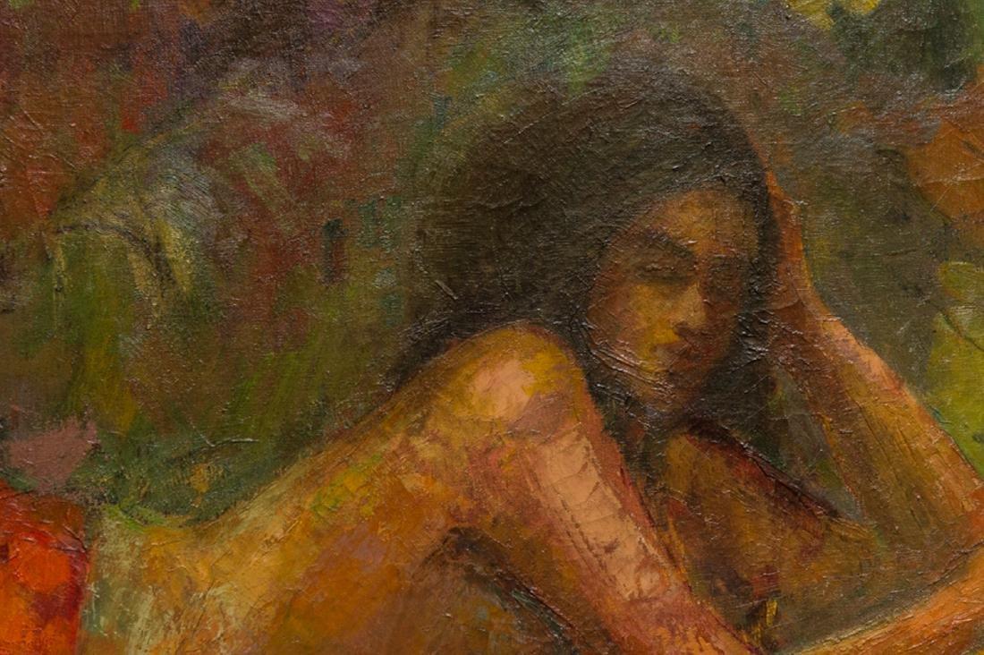 "LiuKang(1911-2005)Singapore Artist Oil""Balinese Lady"" - 6"