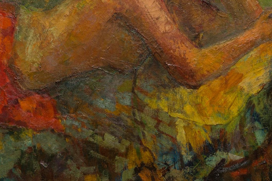 "LiuKang(1911-2005)Singapore Artist Oil""Balinese Lady"" - 7"