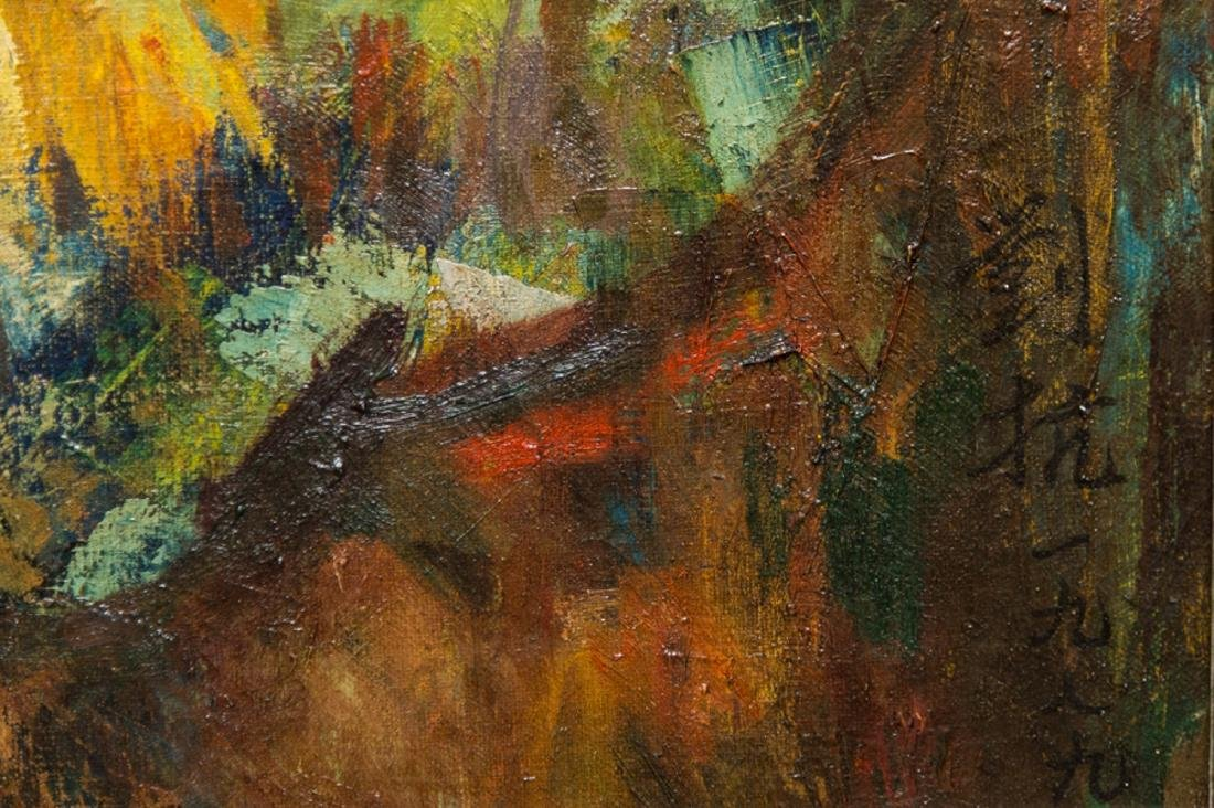 "LiuKang(1911-2005)Singapore Artist Oil""Balinese Lady"" - 8"