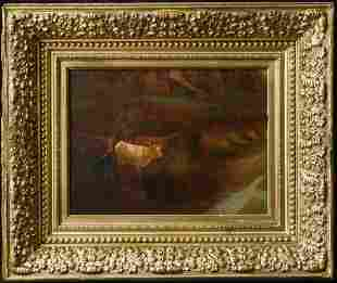 Edward Mitchell Bannister(Massachusetts1828-1901)Canvas